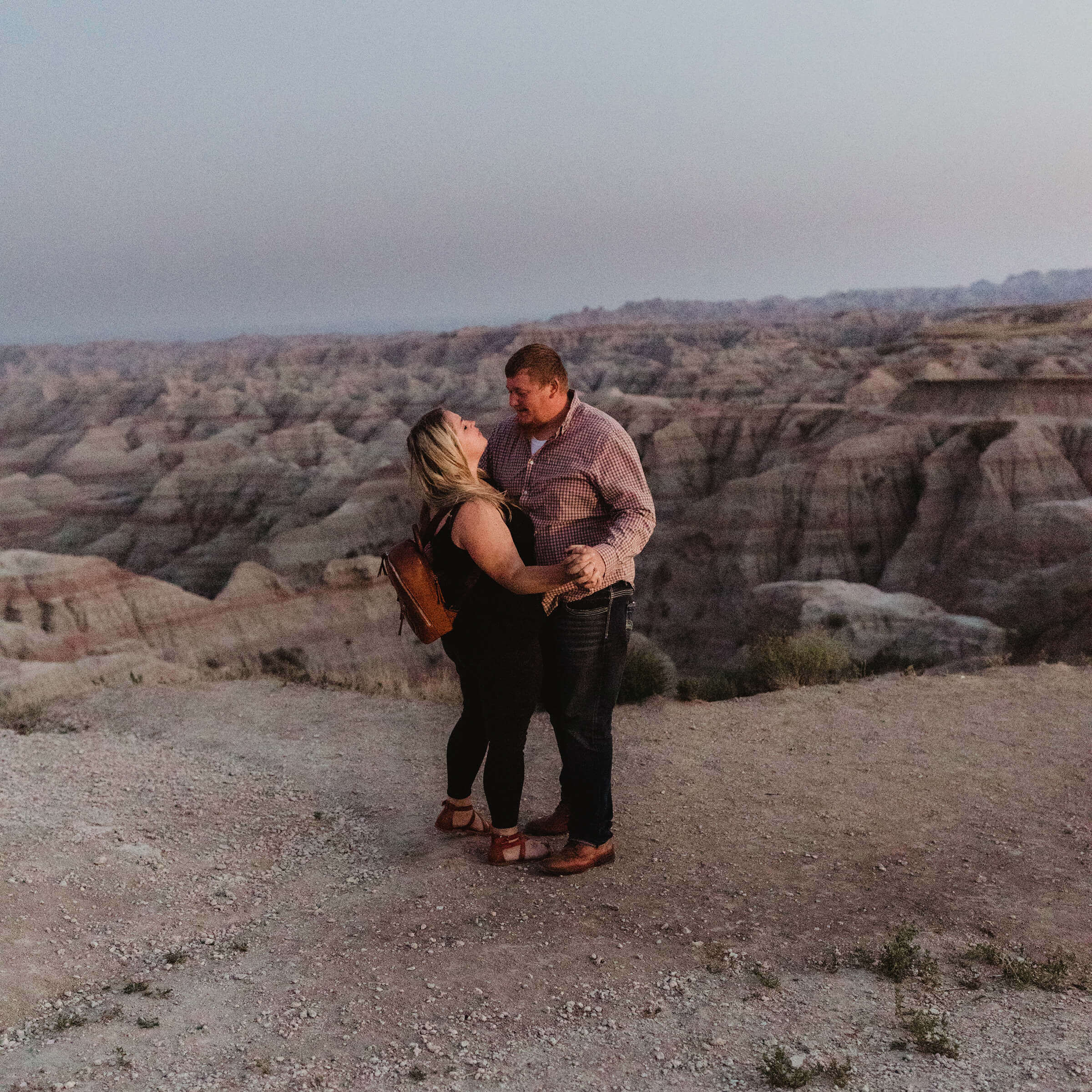 Kim & Connor at the Badland's National Park in South Dakota